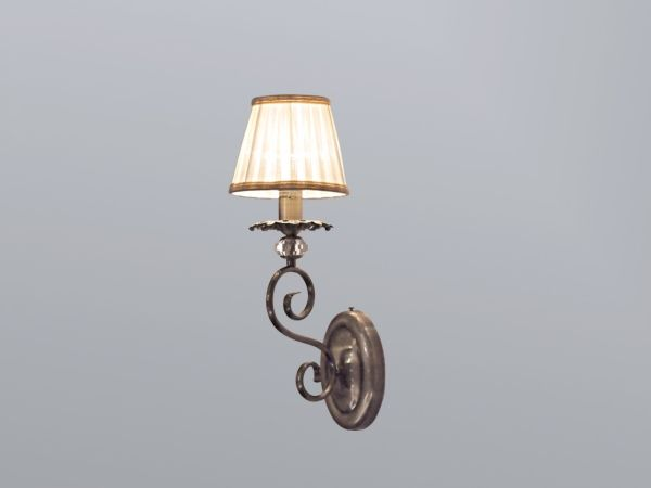 Купить  Бра, NEWPORT 2101/A ,Antique bronze Clear crystal Shade beige L15*H40*SP19 cm E14 1*60W
