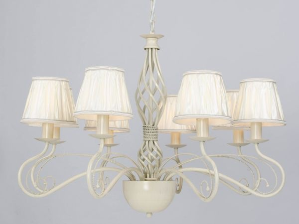 Купить Люстра, NEWPORT 4108/C ivory white brush gold , + Ivory fabric shade Ivory white brush gold 74*74*57 см Е14 8*60W