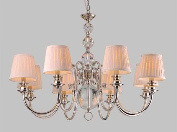 Купить Люстра, NEWPORT 3108/C , Chrome Shade beige D90*Н65 см Е14 8*60W