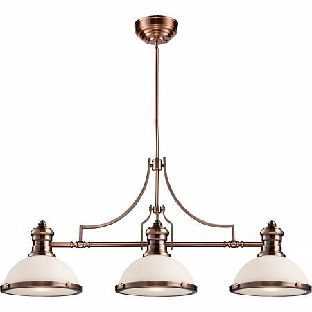 Купить 723-03-52AC Antique Copper  with White Glass
