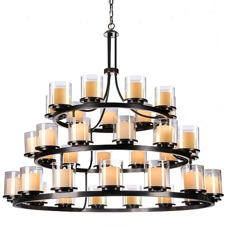 Купить NEWPORT 35015+12+9/С , Люстра, Black+gold Shade glass D139*H115 cm Е14 36*60W